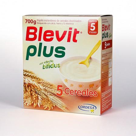 Farmacia Jiménez | Blevit Plus 5 Cereales 600 g