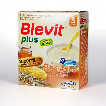 Farmacia Jiménez | Blevit Plus 8 Cereales Miel Superfibra 600 g
