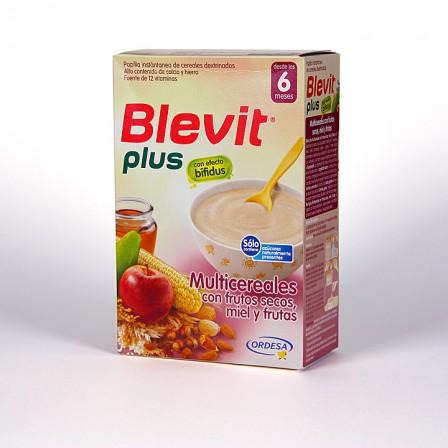 Farmacia Jiménez | Blevit Plus Multicereales con frutos secos miel y fruta 300 g