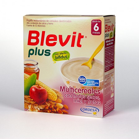 Farmacia Jiménez | Blevit Plus Multicereales con frutos secos miel y fruta 600 g