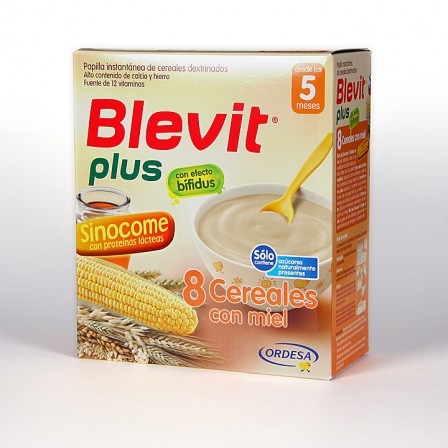 Farmacia Jiménez | Blevit Plus Sinocome 8 Cereales Miel 600 g