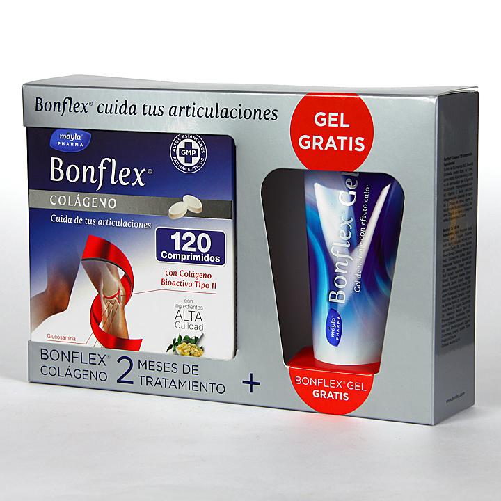 Farmacia Jiménez | Bonflex Colágeno 120 comprimidos + Gel Efecto Calor 100 ml Pack Promo