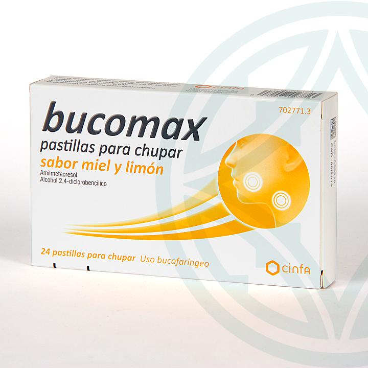 Farmacia Jiménez | Bucomax 24 pastillas para chupar miel y limón