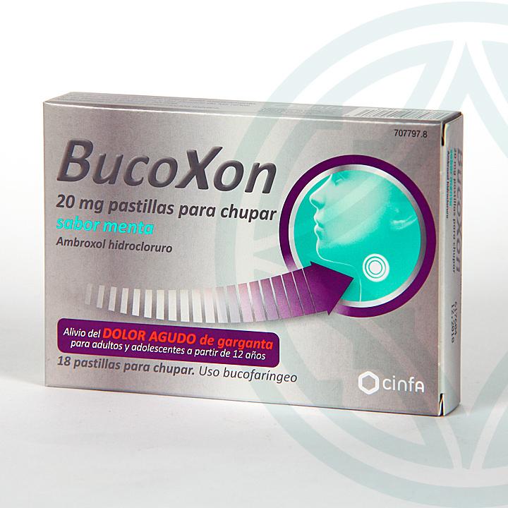 Farmacia Jiménez | Bucoxon 18 pastillas para chupar sabor menta