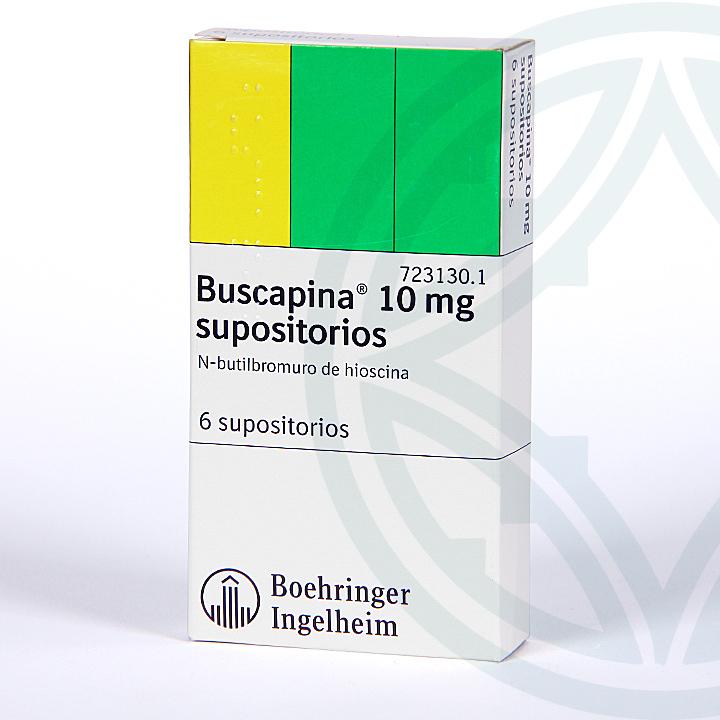 Farmacia Jiménez | Buscapina 10 mg 6 supositorios