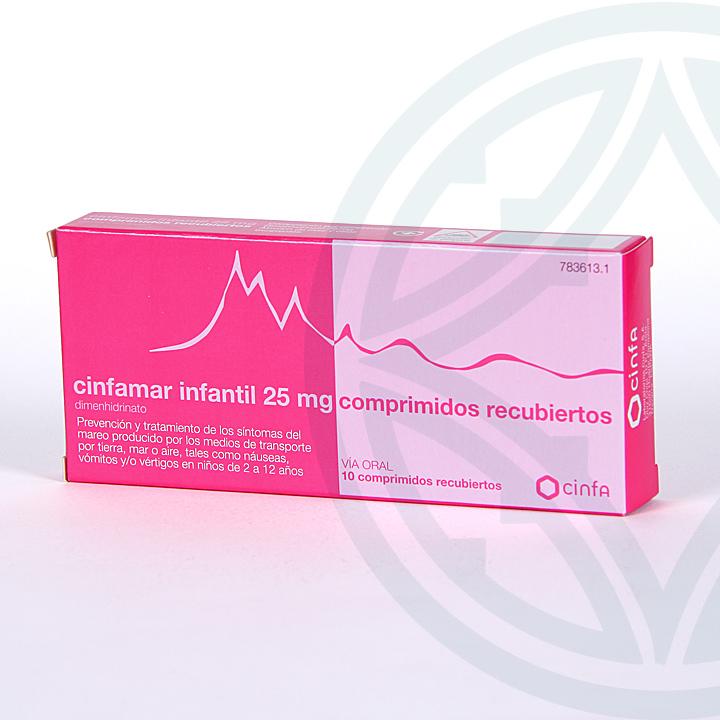 Farmacia Jiménez | Cinfamar Infantil 10 comprimidos
