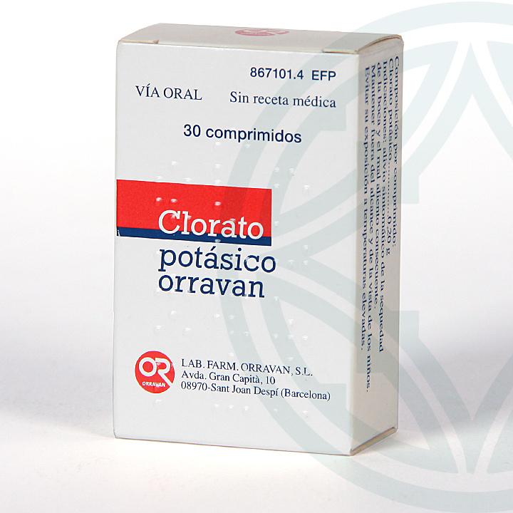 Farmacia Jiménez | Clorato Potásico Orravan 30 comprimidos