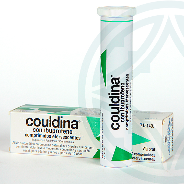 Farmacia Jiménez | Couldina con Ibuprofeno 20 comprimidos efervescentes