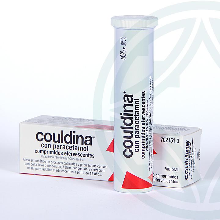 Farmacia Jiménez | Couldina con Paracetamol 20 comprimidos efervescentes