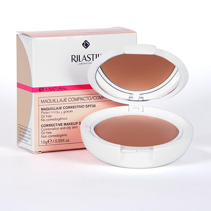 Farmacia Jiménez | Rilastil Cumlaude Coverlab Maquillaje compacto piel mixta-grasa Natural 01
