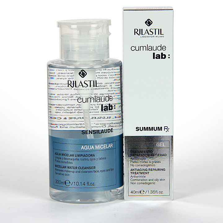 Farmacia Jiménez | Cumlaude Rilastil Summum Rx Gel + Sensilaude Agua Micelar Regalo