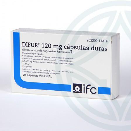 Farmacia Jiménez | Difur 120 mg 24 cápsulas
