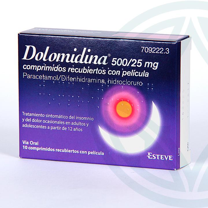 Farmacia Jiménez | Dolomidina 500/25 mg 10 comprimidos recubiertos