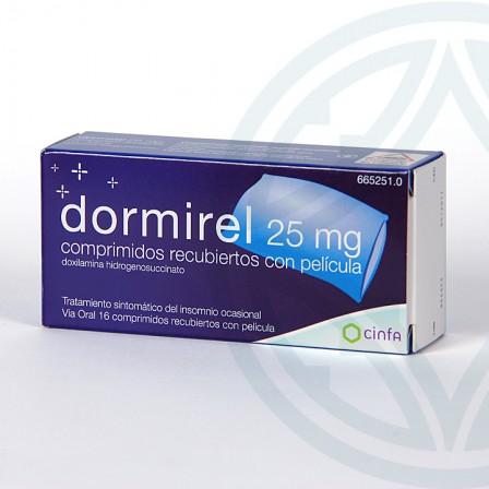 Farmacia Jiménez | Dormirel 25 mg 16 comprimidos