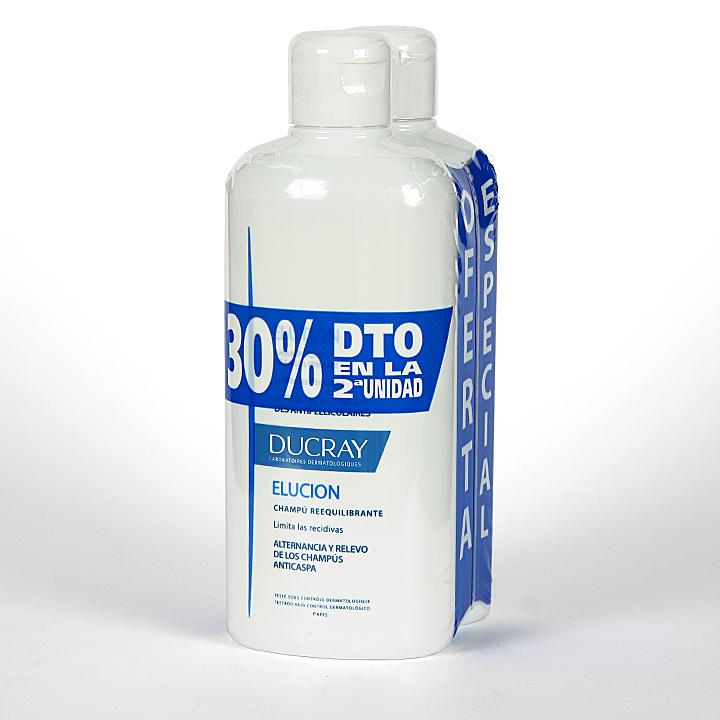 Farmacia Jiménez | Ducray Elution Champú 400 + 400 ml Duplo