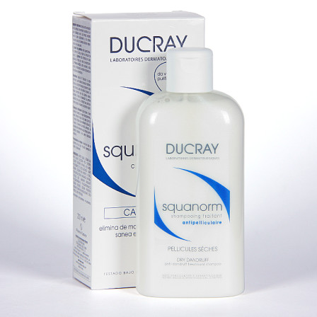 Farmacia Jiménez | Ducray Squanorm Champú tratamiento caspa seca 200 ml