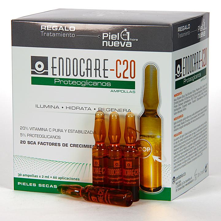 Farmacia Jiménez | Endocare C20 Proteoglicanos 30 Ampollas + Regalo Renueva tu piel