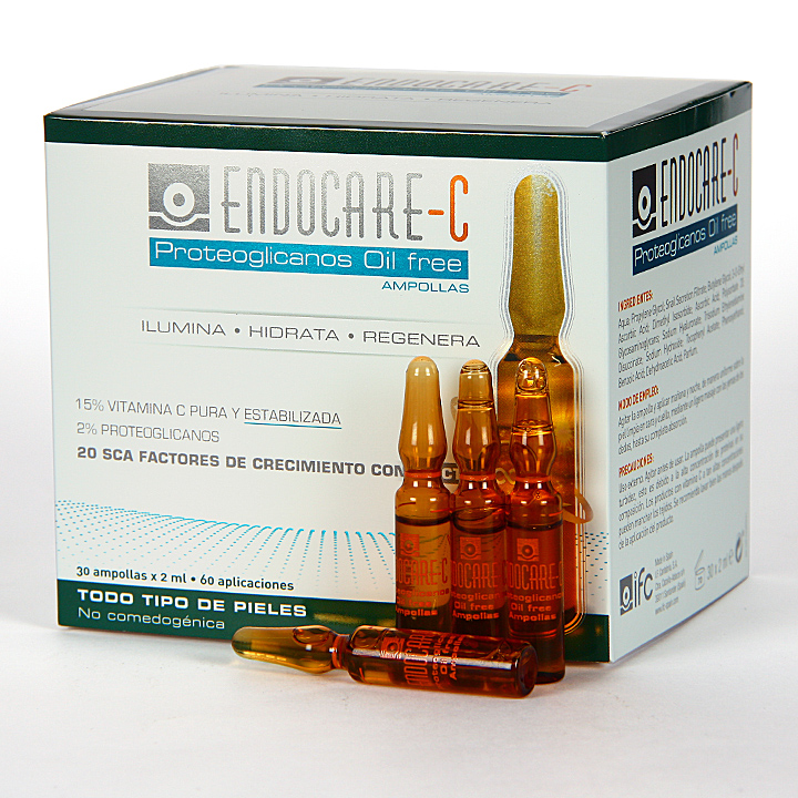 Farmacia Jiménez | Endocare C Proteoglicanos Oil free 30 Ampollas