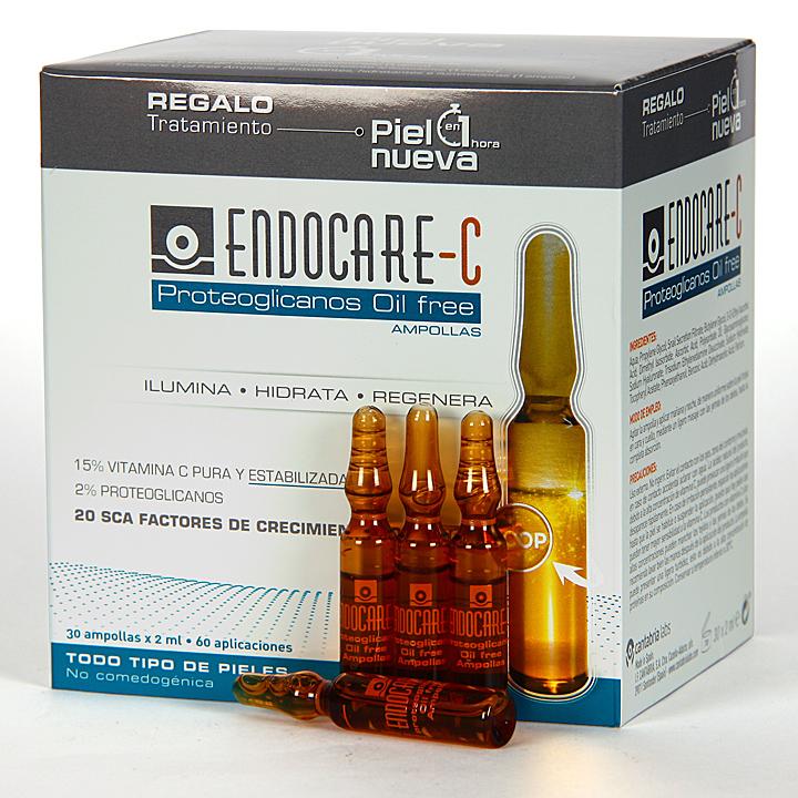 Farmacia Jiménez | Endocare C Proteoglicanos Oil free 30 Ampollas + Pack Piel Nueva