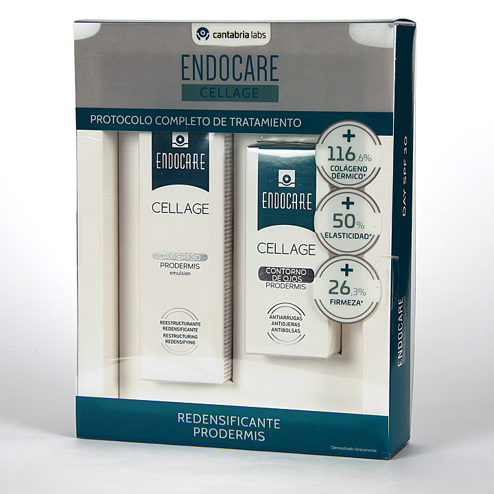 Farmacia Jiménez | Endocare Cellage Day SPF 30 Prodermis + Contorno de Ojos 15 ml Pack