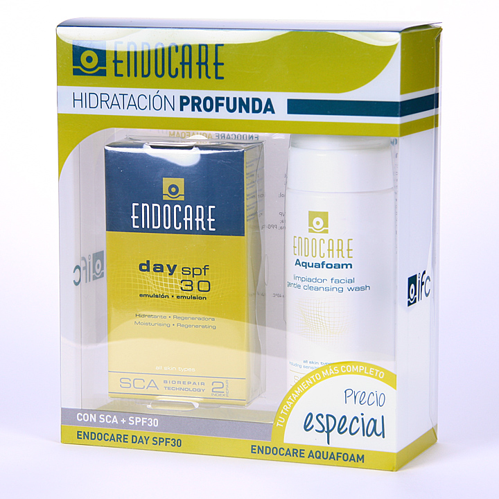 Farmacia Jiménez | Endocare Day SPF 30 40ml + Aquafoam 125 ml pack promoción