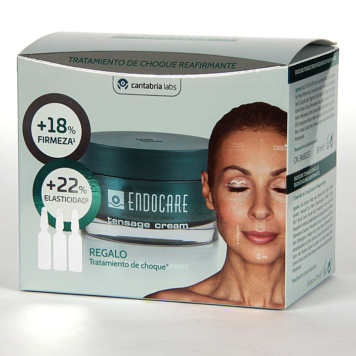 Farmacia Jiménez | Endocare Tensage Crema 50 ml + Tensage Ampollas 3×2 ml Regalo