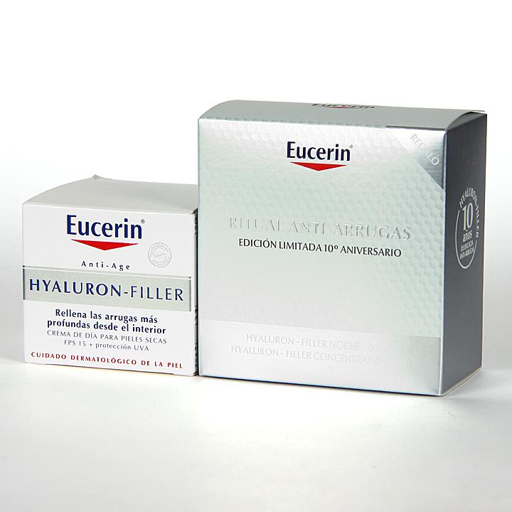 Farmacia Jiménez | Eucerin Hyaluron-filler pieles secas+ Regalo ritual antiarrugas