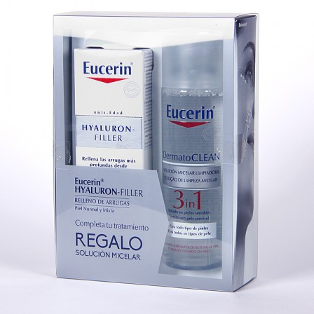 Farmacia Jiménez | Eucerin Hyaluron-Filler Crema de día + Solución Micelar Limpiadora