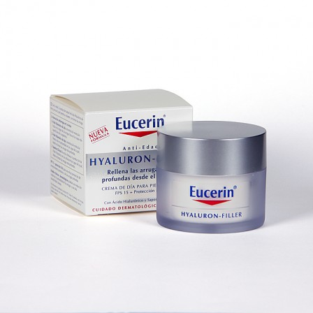 Farmacia Jiménez | Eucerin Hyaluron-filler Crema de día pieles secas 50 ml