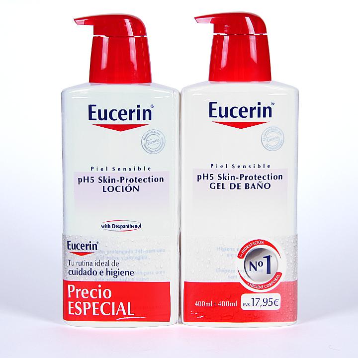 Farmacia Jiménez | Eucerin pH5 Loción + Gel de Baño Pack Promoción