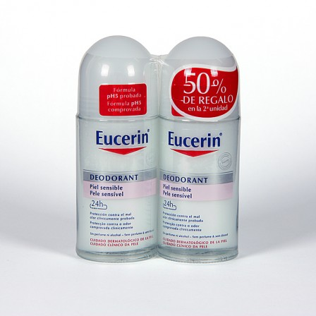 Farmacia Jiménez | Eucerin pH5 Desodorante piel sensible roll-on duplo