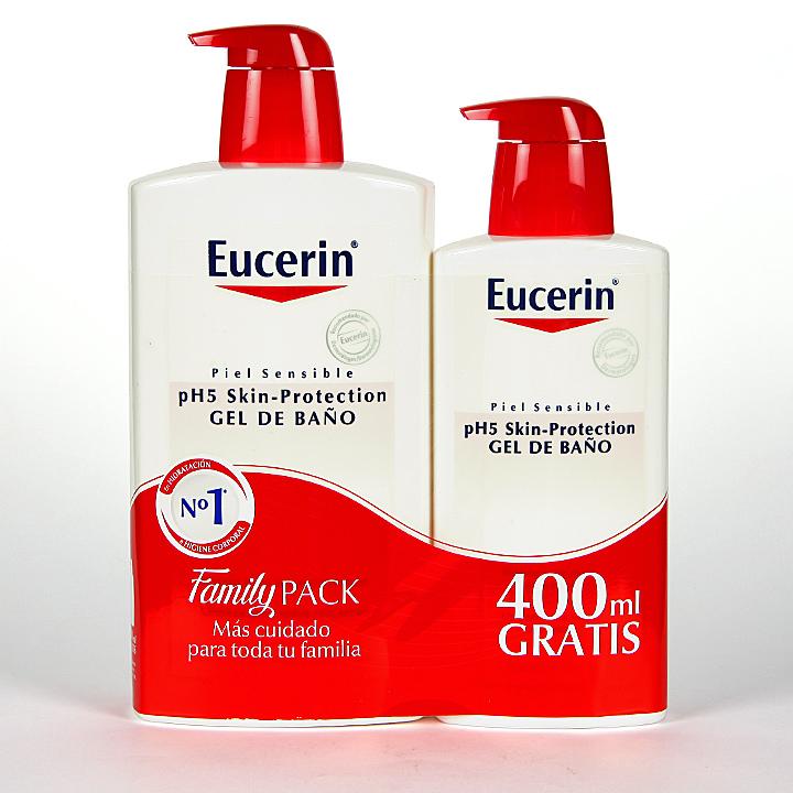 Farmacia Jiménez | Eucerin pH5 Gel de baño 1000 ml + 400 ml Gratis Pack Ahorro