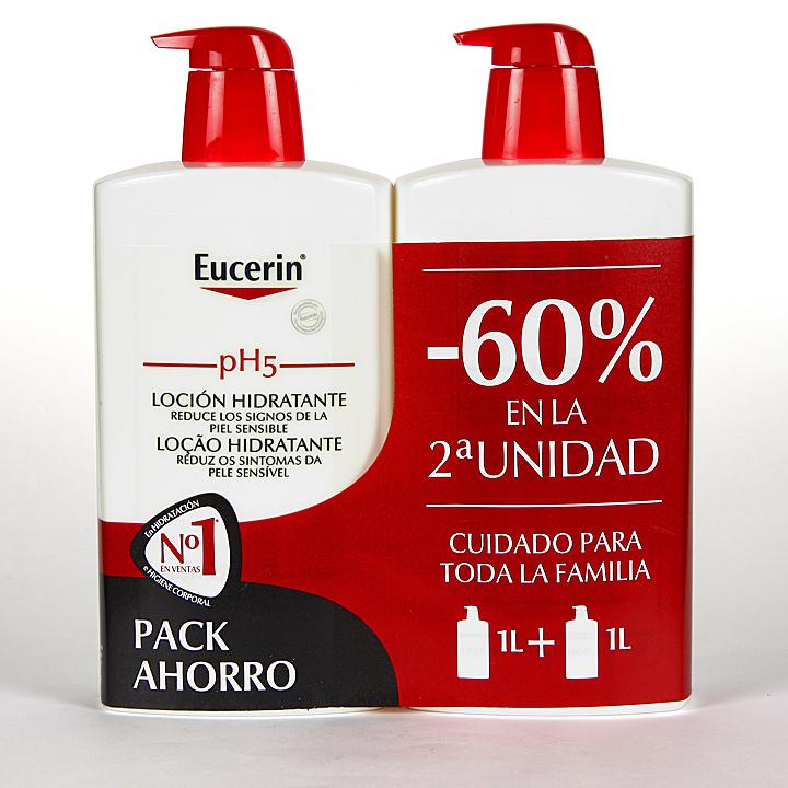 Farmacia Jiménez | Eucerin pH5 Loción 1L + 1L Pack Duplo