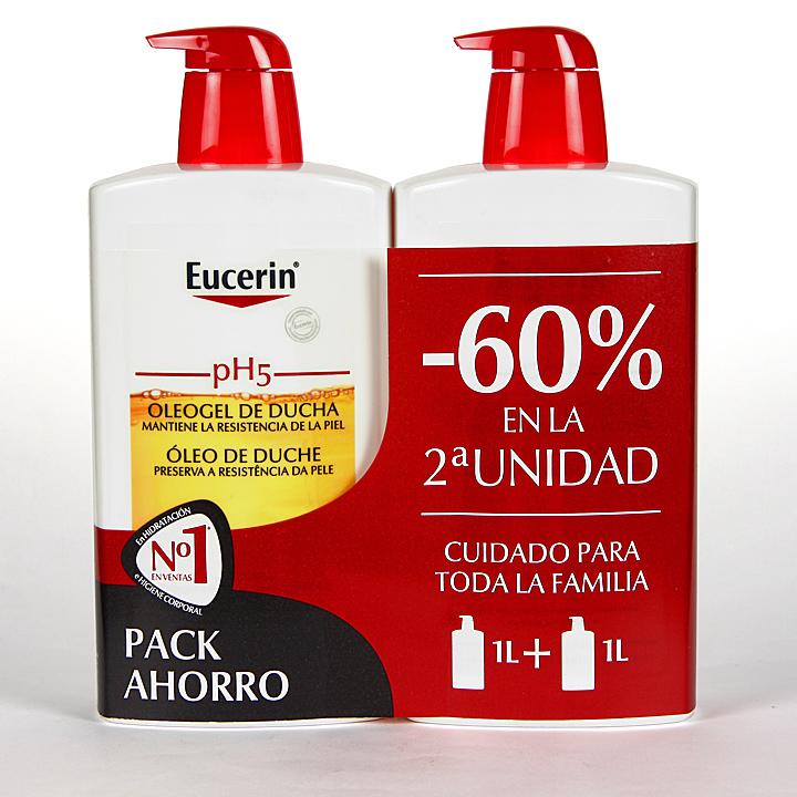 Farmacia Jiménez | Eucerin pH5 Oleogel de ducha 1L + 1L Pack Duplo