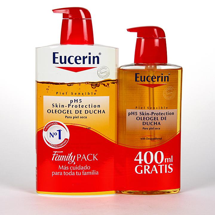 Farmacia Jiménez | Eucerin pH5 Oleogel de ducha 1000 ml + 400 ml Gratis Pack Ahorro