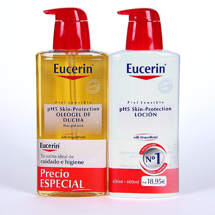 Farmacia Jiménez | Eucerin pH5 Oleogel de Ducha + Loción Pack Promoción