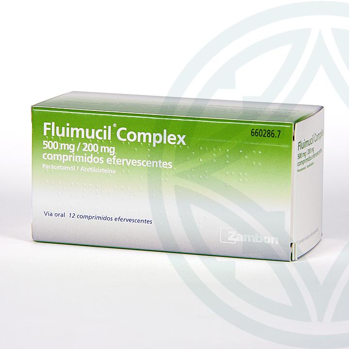 Farmacia Jiménez | Fluimucil Complex 12 comprimidos efervescentes