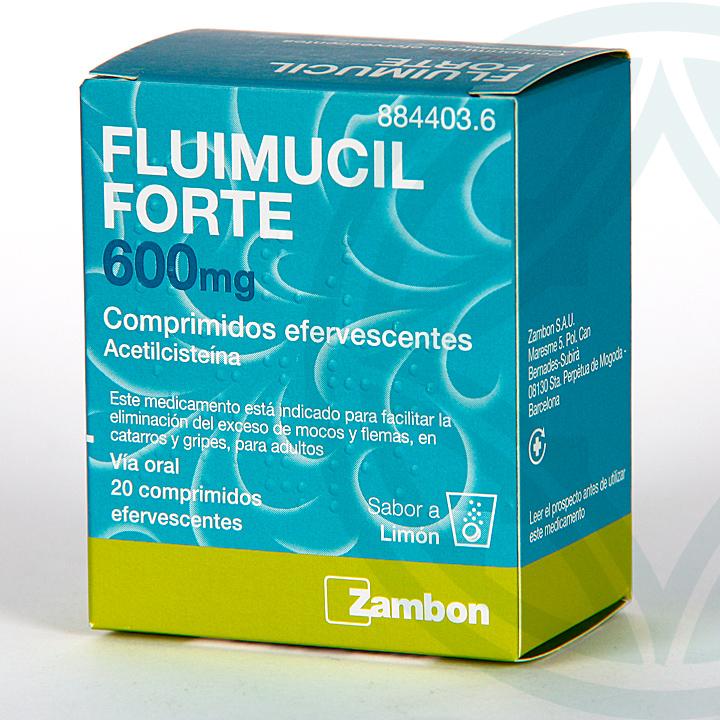 Farmacia Jiménez | Fluimucil Forte 600 mg Comprimidos efervescentes
