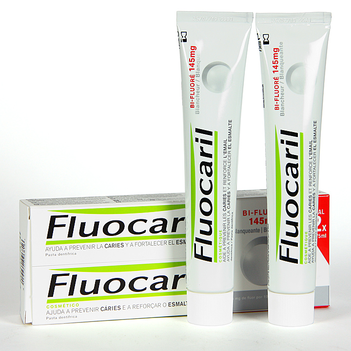 Farmacia Jiménez | Fluocaril Pasta Blanqueadora Duplo 75 ml Pack Duplo