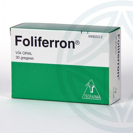 Farmacia Jiménez | Foliferron 30 grageas