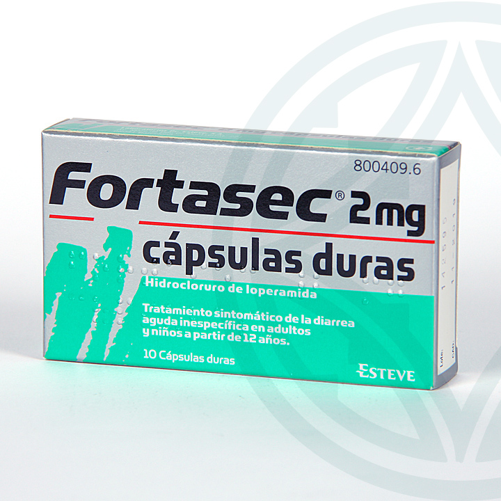Farmacia Jiménez | Fortasec 2 mg 10 cápsulas