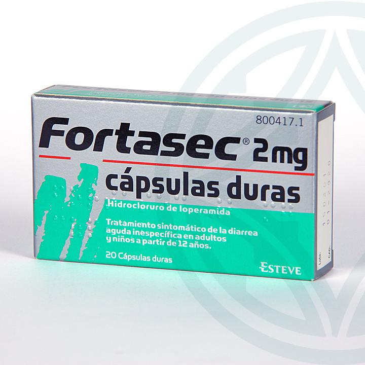 Farmacia Jiménez | Fortasec 2 mg 20 cápsulas duras