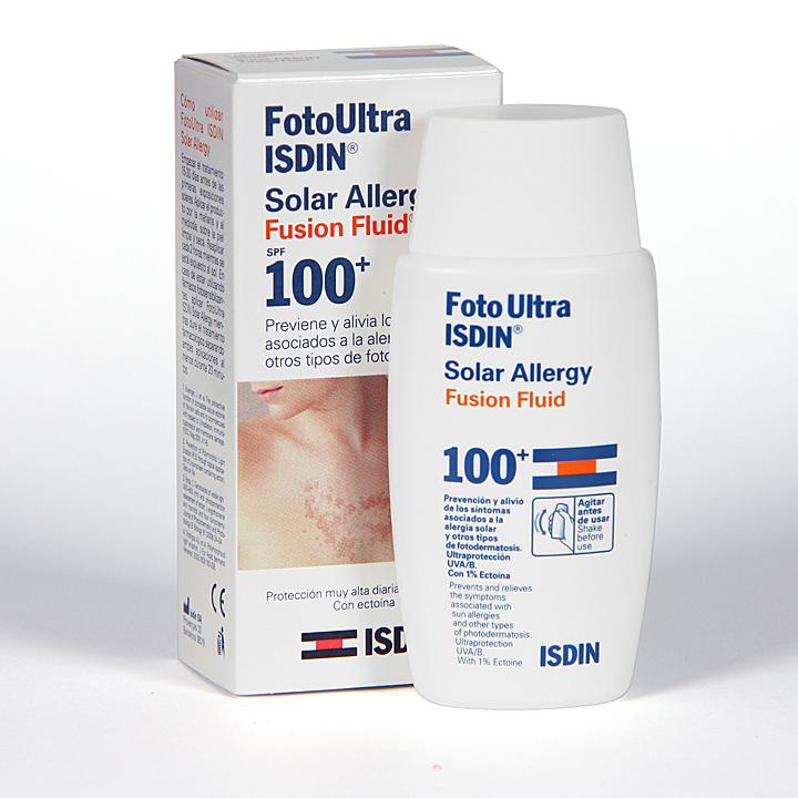 Farmacia Jiménez | FotoUltra Isdin Solar Allergy Fusion fluid SPF100+ 50ml