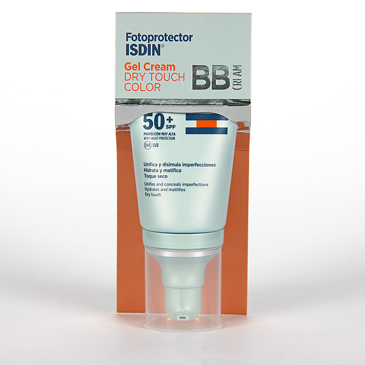 Farmacia Jiménez | Fotoprotector Isdin Gel-cream Dry touch color SPF 50+ 50ml