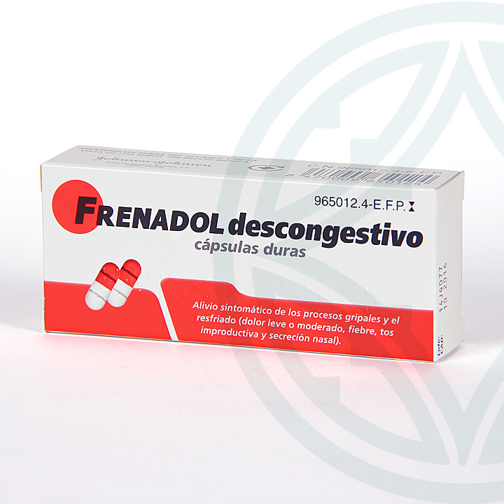 Farmacia Jiménez | Frenadol Descongestivo 16 cápsulas