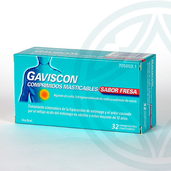 Farmacia Jiménez | Gaviscon 32 comprimidos masticables fresa