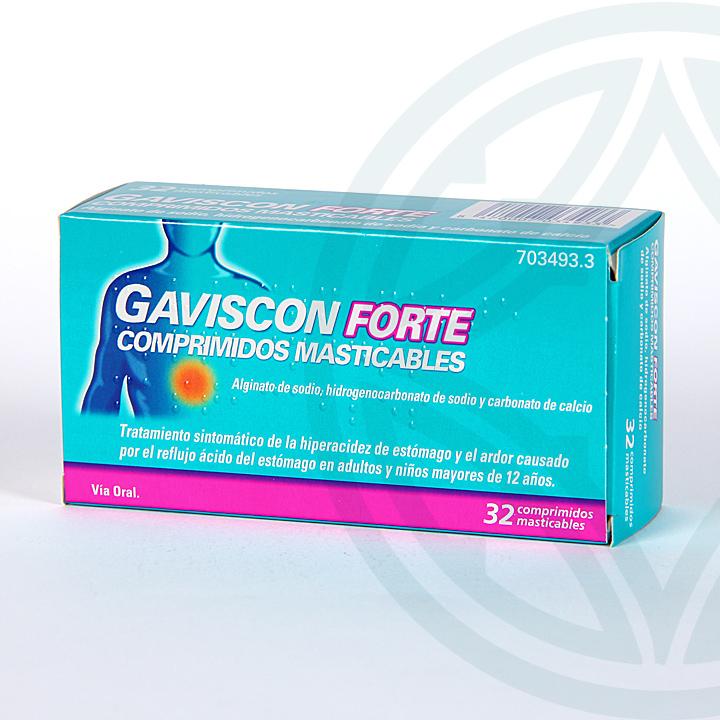 Farmacia Jiménez | Gaviscon Forte 32 comprimidos masticables