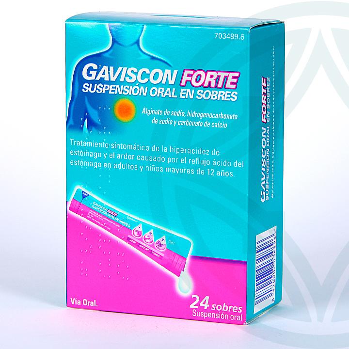 Farmacia Jiménez | Gaviscon Forte suspensión oral 24 sobres
