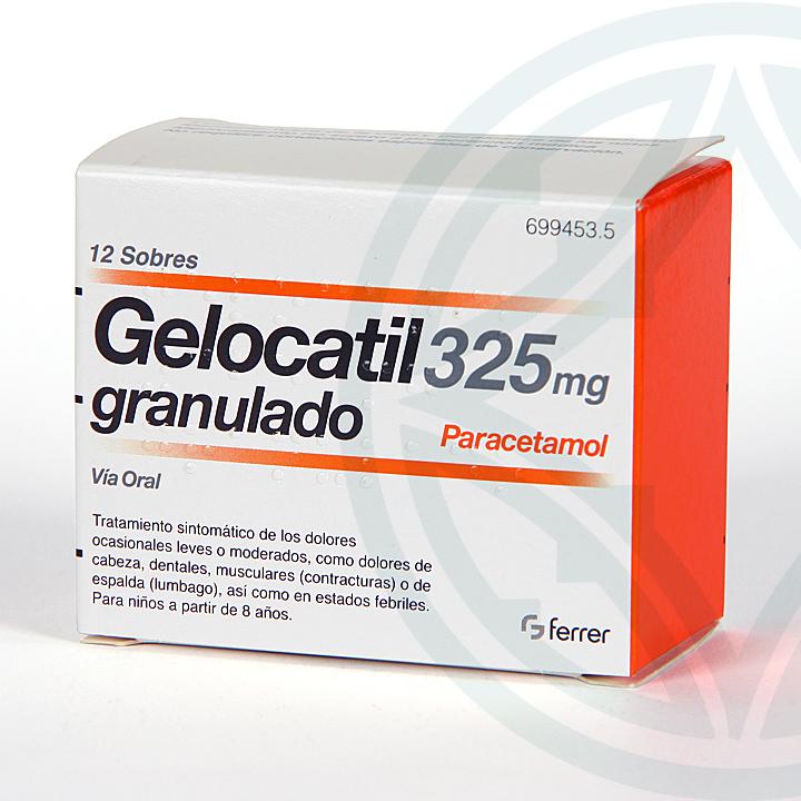 Farmacia Jiménez | Gelocatil 325 mg 12 sobres granulado