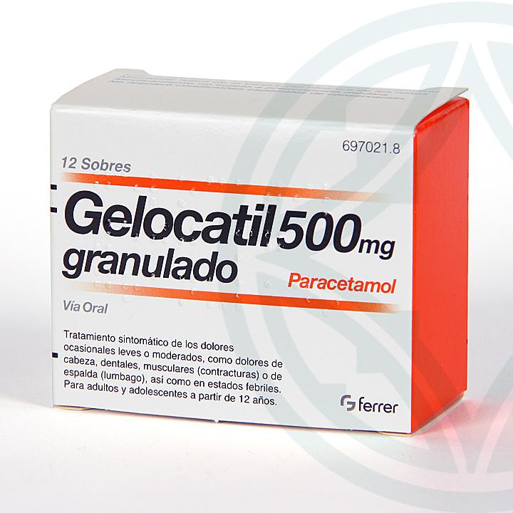Farmacia Jiménez | Gelocatil 500 mg 12 sobres granulado